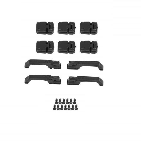 1 Набор черные пластиковые альпинистские дверные петли для автомобиля и дверные ручки для 1:10 RC Crawler Traxxas TRX4