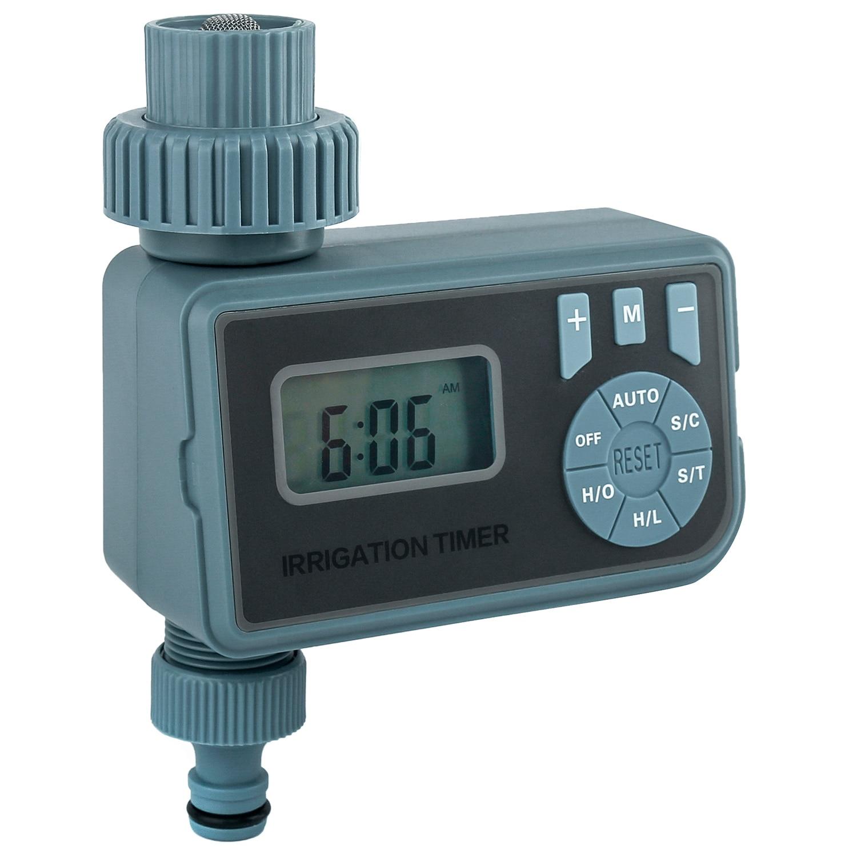 Temporizador de agua programable al aire libre de una sola salida de manguera grifo de riego controlador de agua con pantalla LCD Digital