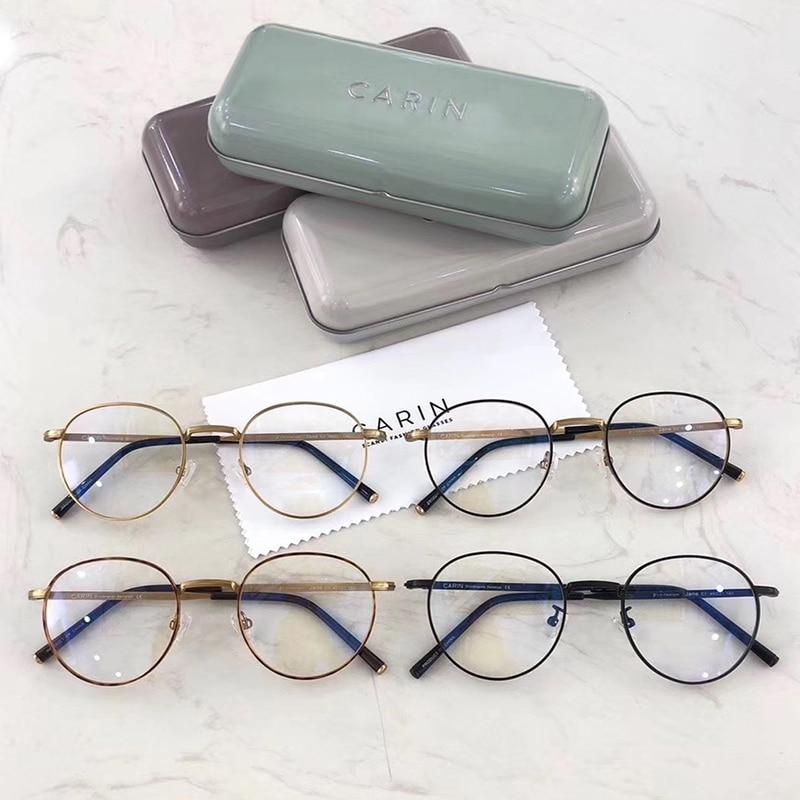 B Titan Brille Rahmen Frauen Retro Runde Brillen Vintage Myopie Optische Rahmen Bernstein Brillen für Männer
