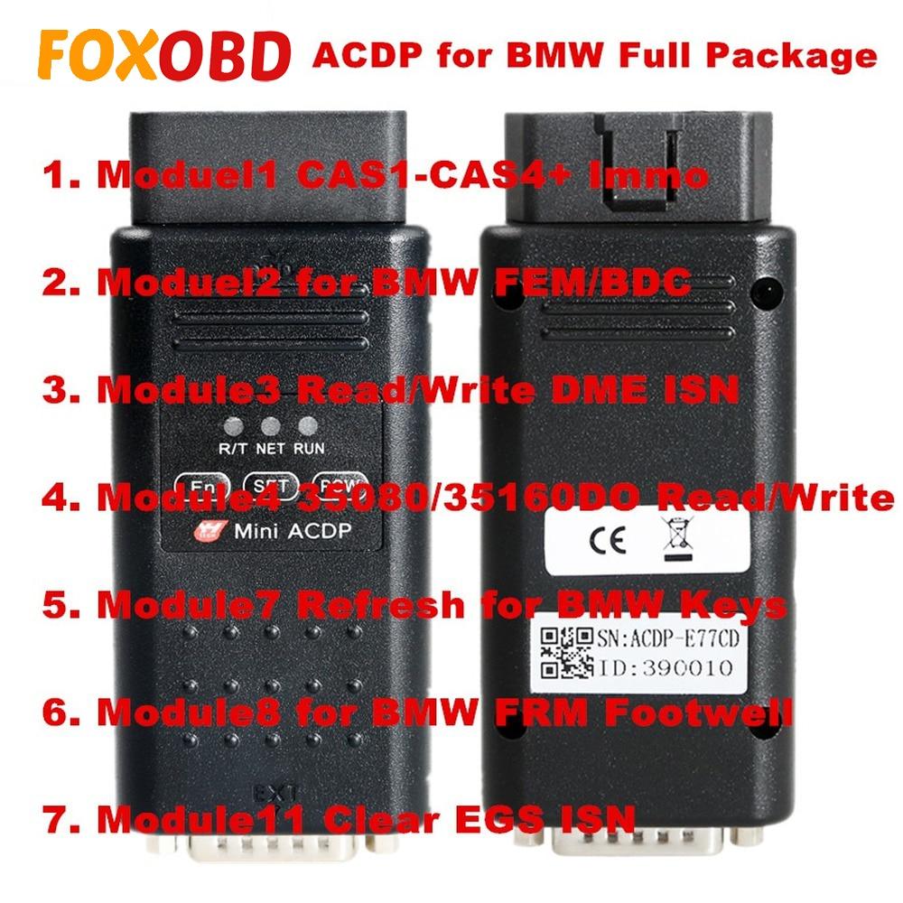 Yanhua Mini Maestro de programación ACDP para BMW paquete completo con Module1/2/3/4/7/ 8/11 Total de 7 de las autorizaciones