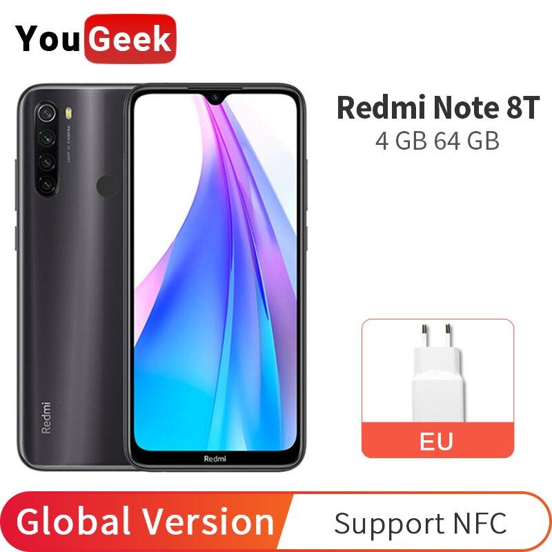 Versión Global Xiaomi Redmi Note 8 T 4GB RAM 64GB ROM NFC 8 T Smartphone 48MP Quad cámaras Snapdragon 665 18W cargador rápido