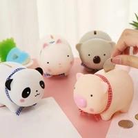 animal adults saving small box home kids cartoon panda soft koala piggy for money household gift pot pig decor bank cute rabbit