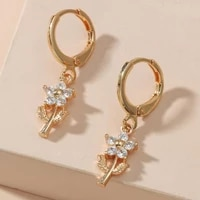 jewelry elegant all match rhinestone ear studs lady ladies earrings rhinestone for prom
