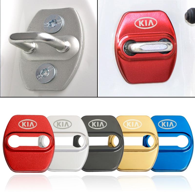 Car Styling Door Lock Protective Cover For Kia Soul Sorento Prime Carens Rondo Sportage(QL) optima 2016-2019 car accessories