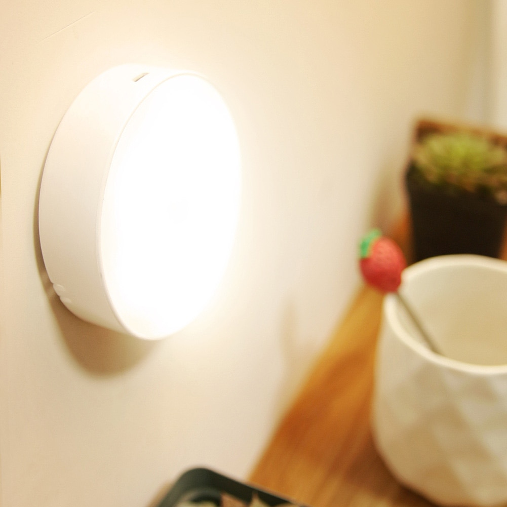 ночники LED Motion Sensor Night Light USB Rechargeable Bedroom Wall Lamp Stairs Body Light Sensor Lamp Ночники Cupboard Night Lights
