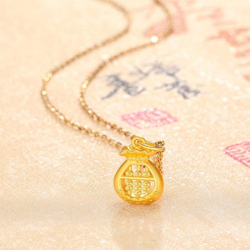 Moda personalidade ouro ábaco colar pingente estilo étnico banhado a ouro colar para mulheres dar namorada requintado presente
