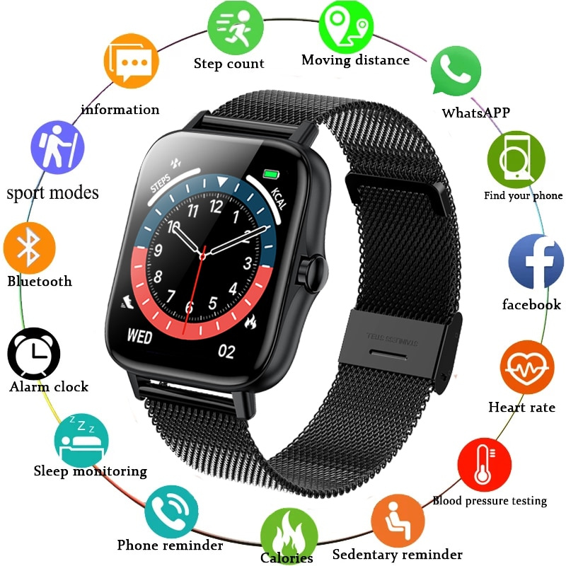 2021 New Bluetooth call smart watch men women Heart rate monitor fitness sport watches Activity tracker smartwatch for Xiaomi
