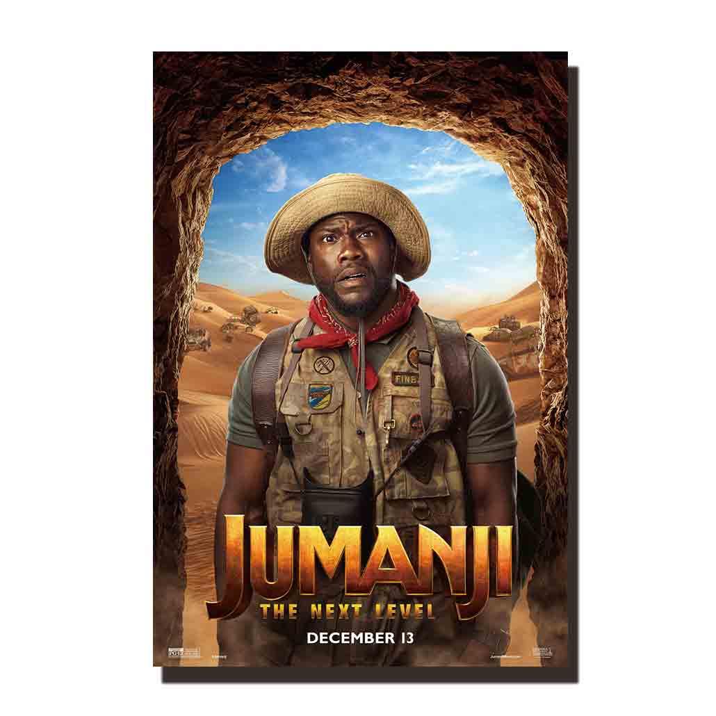C07 jumanji filme decoração arte cartazes e cópias 12x18 27x40 quadros da parede da lona para sala de estar