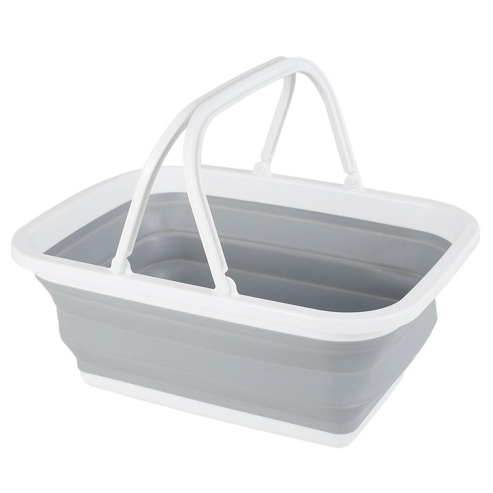 Cubo plegable con mango para acampar, accesorio portátil y grueso, lavable, fregona,...