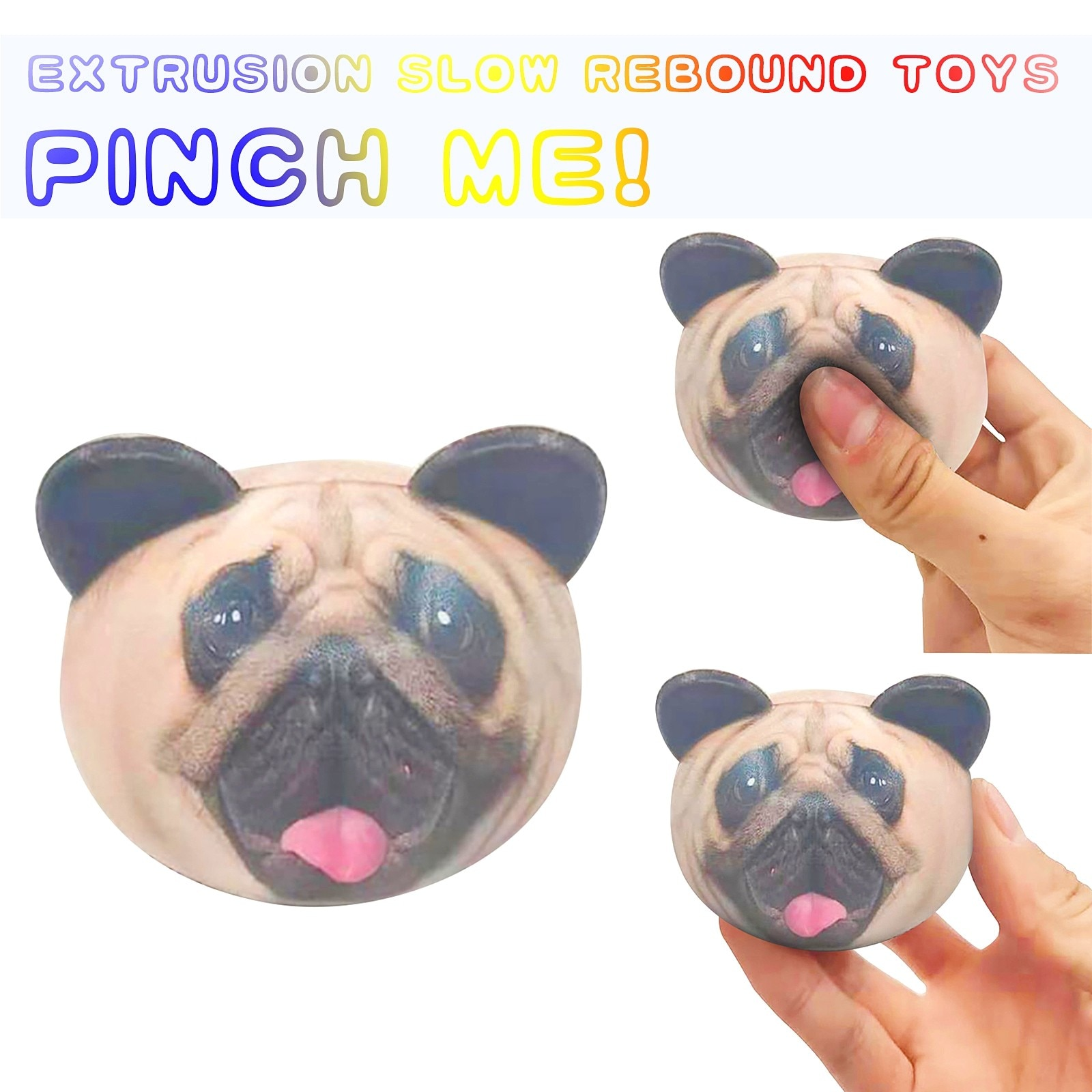 New Fashion Fidget Toys Dog Decompression Slow Re bound Animal Head Toy Dolls антистресс