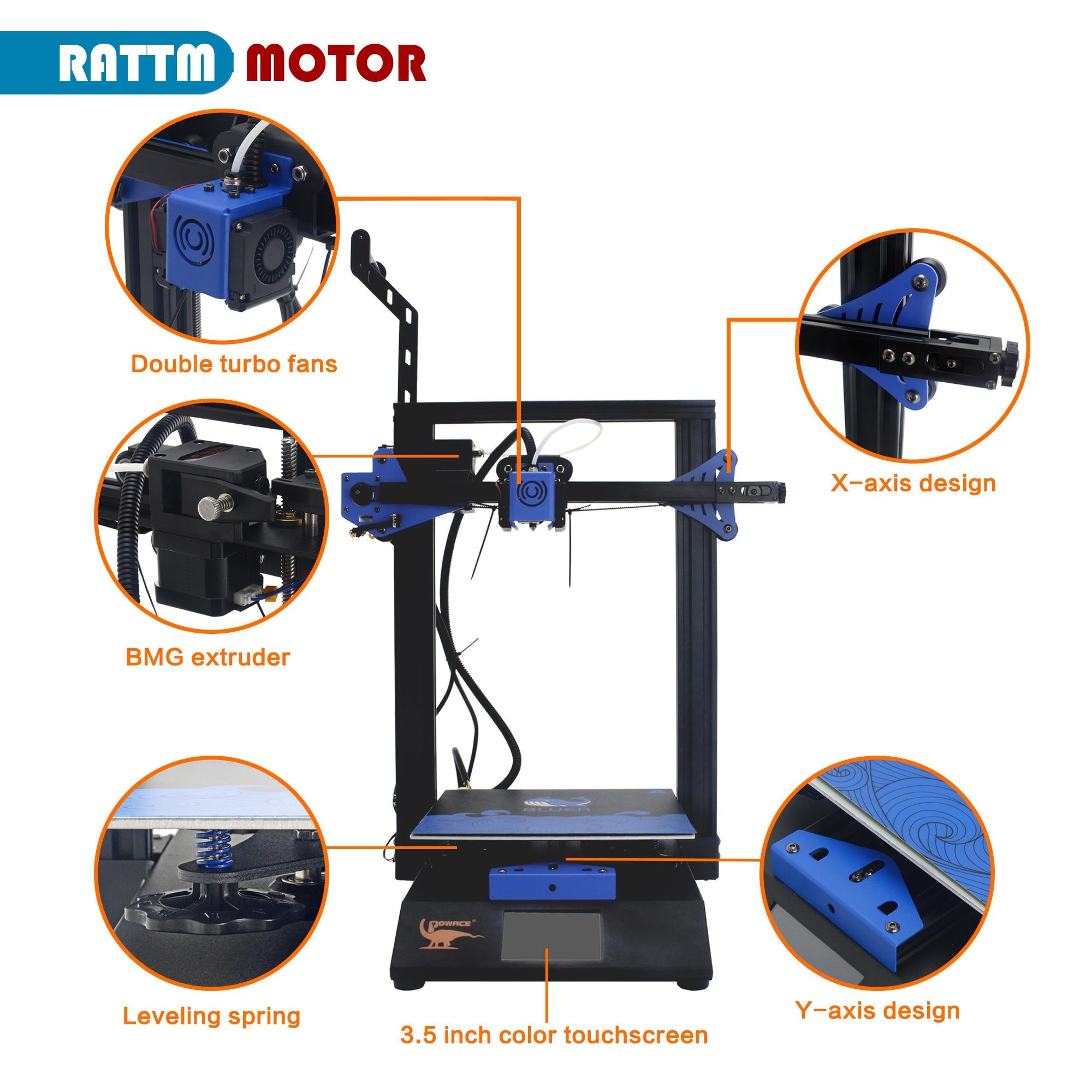 High Precision Powace 3D printer Bluer V2 & Silent Driver TMC2225 Large Size TFT Color Touch Screen 110V / 220V enlarge