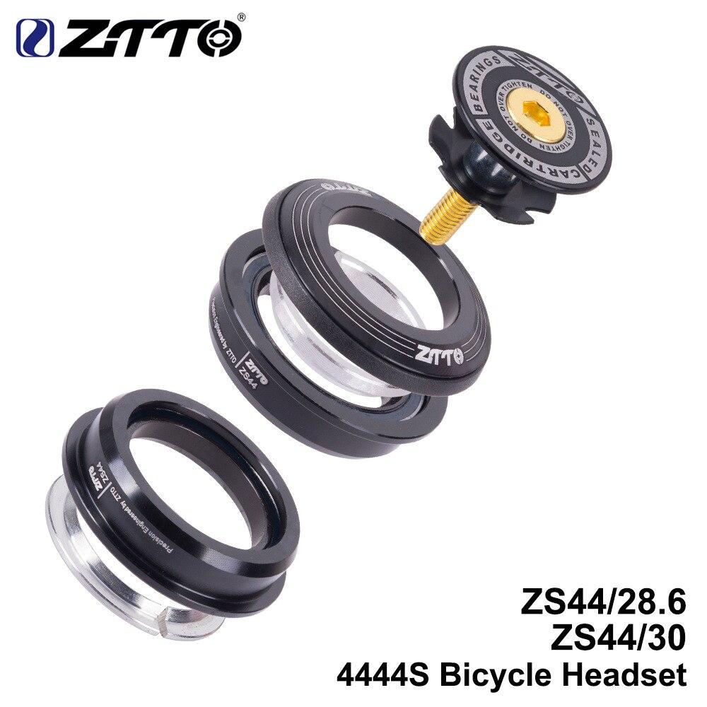 """Columna de dirección de bicicleta de carretera ZTTOMTB auriculares 44mm 1-1/8 """"28,6mm horquilla de tubo recto Marco de bicicleta de bajo perfil semiintegrado ZS44"""