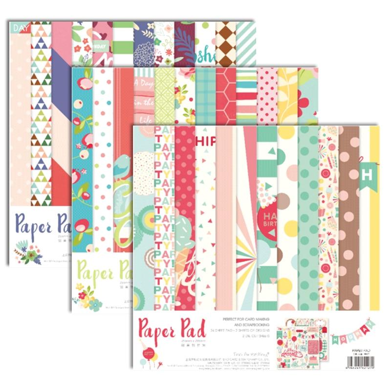 ENO Greeting floral scrapbooking paper set 10inch diy scrapbooking craft paper pad origami cardmaking supplies