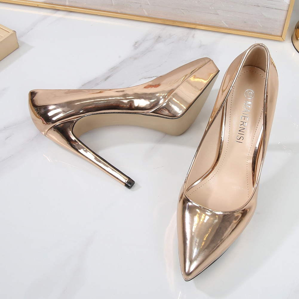 Sexy Women's Pumps 12mm Office Lady Stiletto High Heels Pointed Toe 2021 Designe Fashion Wedding Dre
