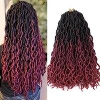 clong synthetic crochet braided hair extensions goddess faux locs ombre curly soft dreads dreadlocks hair for braiding hair