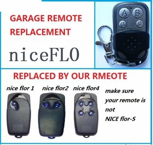 Bonito FLO 1 FLO 2 FLO 3 Transmisor de Control remoto Universal puerta de garaje Fob 433,92 mhz
