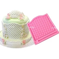 diamond grid silicone fondant chocolate resin sugarcraft mold for pastry cup cake decorating kitchen tool