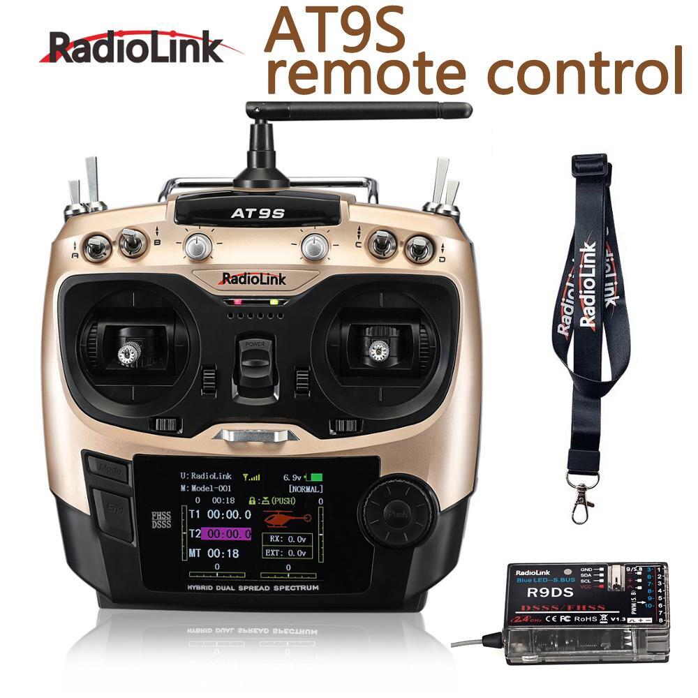 Original Radiolink AT9S, sistema transmisor con receptor R9DS, mando a distancia AT9, visión actualizada para RC quadcopter, helicóptero
