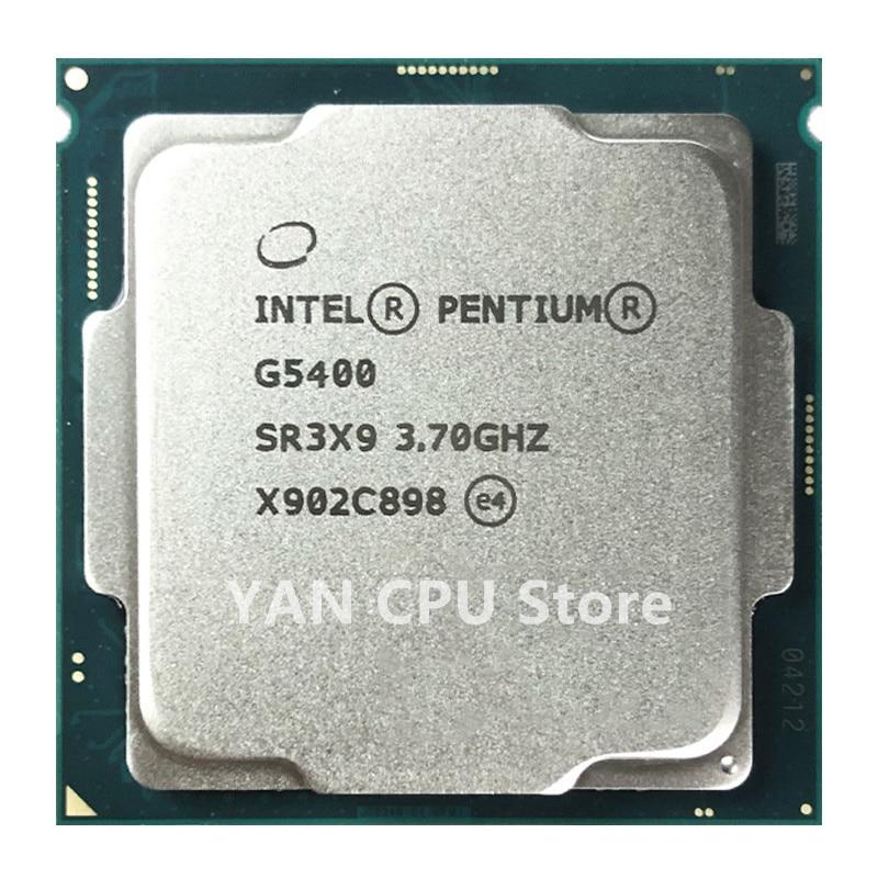 Feer-معالج Intel Pentium G5400 ، 3.7 جيجاهرتز ، رباعي النواة ، 4 متر ، 54 واط ، LGA 1151