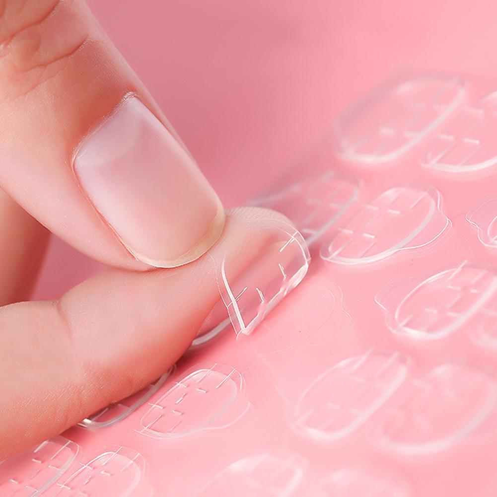 120 Uds claro doble cara falso adhesivo para la decoración de uñas cintas adhesivas uñas falsas pegamento puntas DIY herramienta para manicura