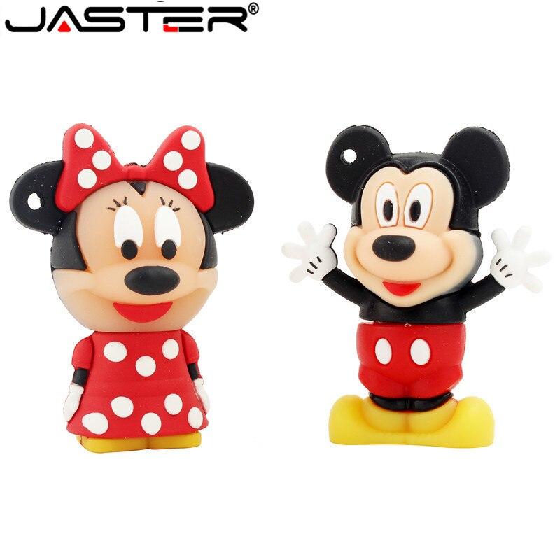 USB флеш-накопитель JASTER Mouse Mickey and Minnie, флеш-накопитель с изображением животных из мультфильма, флешка 4 ГБ/8 ГБ/16 ГБ/32 ГБ/64 Гб/карта памяти u disk