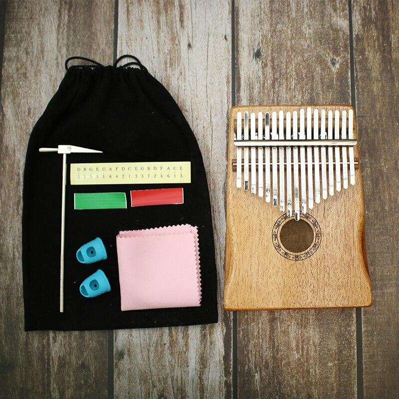 17 Key Kalimba African Solid Pine Mahogany Thumb Finger Piano Sanza Mbira Calimba Play with Guitar Wood Musical Instruments enlarge