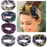 ruoshui woman boho hairband printed vintage headband headwrap women hair accessories headwear turban head hoop
