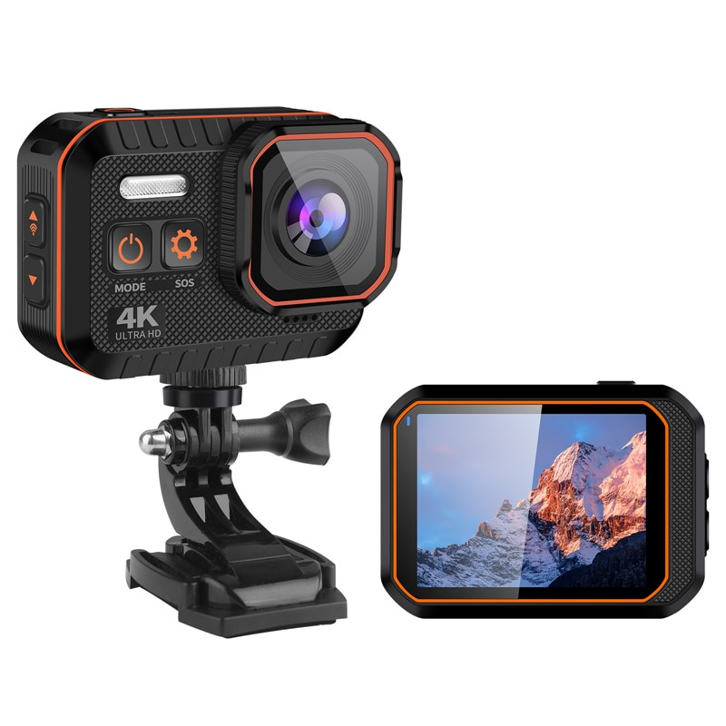 New Ultra Action Camera 4K With Remote Control Screen Waterproof Sport DV Helmet Outdoor Mini WiFi Video Mini Camera