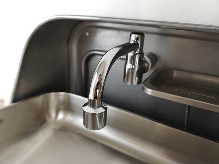 Stainless Steel Folding Sink with Water Faucet for RV Caravan Boat Train Hospital GR-595 enlarge