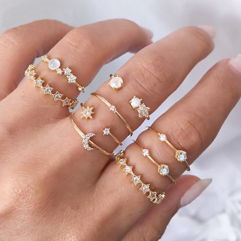 KINFOLK anillos mujer anillo oro acero inoxidable joyeria mujer rings for women anillo vintage boho jewelry joyeria bisuteria
