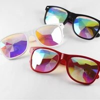 glasses rave men round kaleidoscope sunglasses women party psychedelic prism diffracted lens sunglasses female 2021