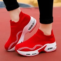 women shoes chunky sneakers platform breathable socks wedges shoes ladies height increasing sport walking chaussures femme 2021