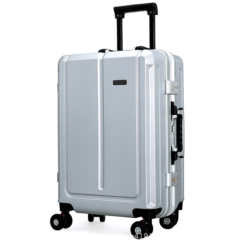 New 20/22/24 Inches ABS Rolling Travel Suitcase with Wheels PC Universal Wheel Aluminum Business Rolling Luggage for Men Women