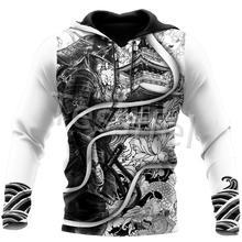 Tessffel Japan Samurai Tattoo 3D Printed New Men's Sweatshirt Harajuku Zipper Hoodie Casual Unisex J