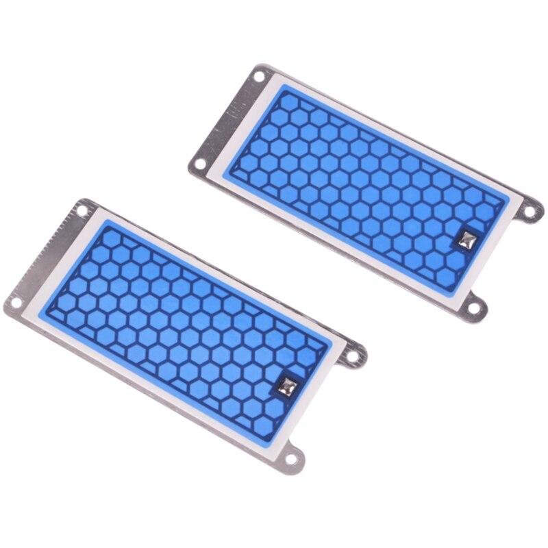 AD-2 piezas generador de ozono de cerámica portátil doble placa de cerámica integrada ozonizador aire y agua purificador de aire Parts-5G