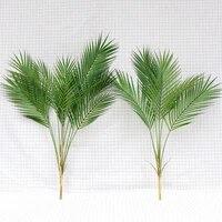 green artificial palm leaf plastic plants tropical tree branch fake plants jungle home garden decor wedding decoration accessory