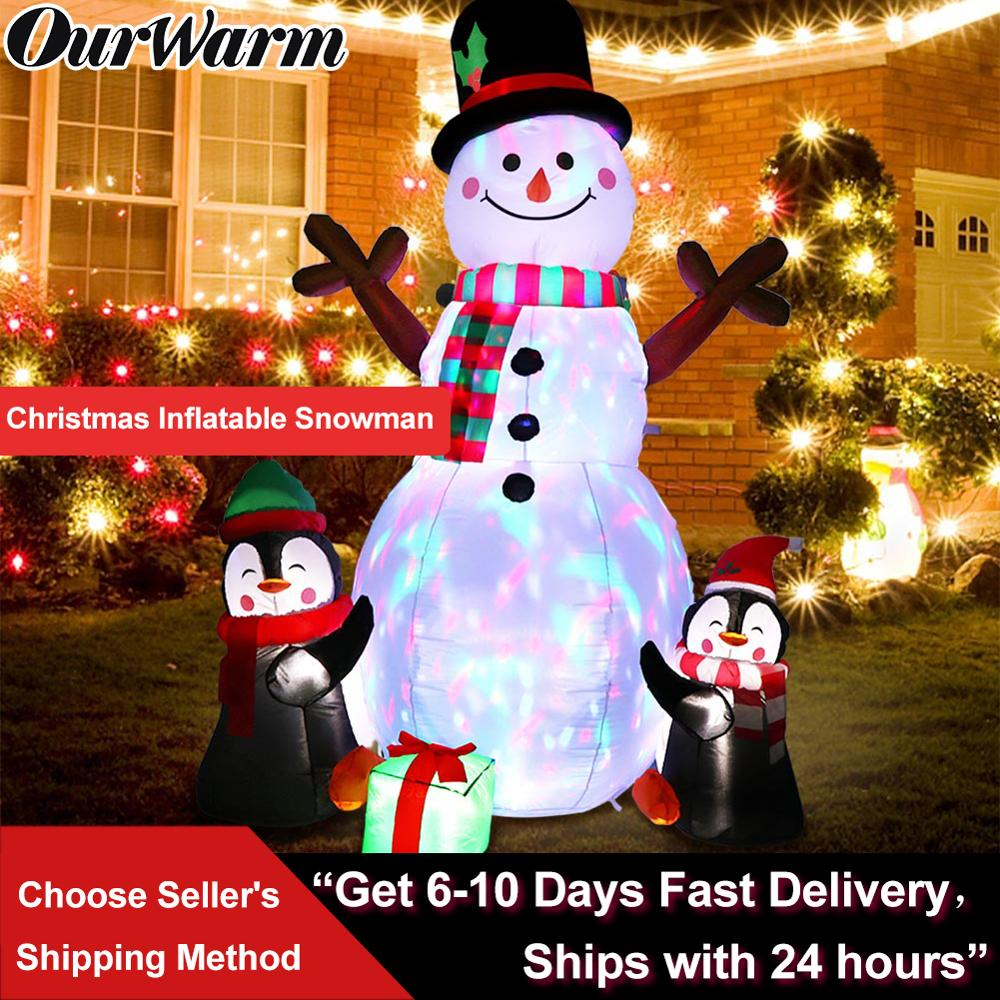 OurWarm 183 سنتيمتر زينة عيد الميلاد ترقية ثلج نفخ الدعائم لعبة قابلة للنفخ داخلي في الهواء الطلق ساحة ديكور للحديقة