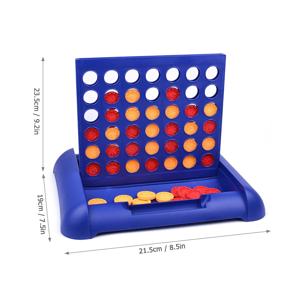 1 pcs new arrival hot sale connect four in a row 4 in a line board game kids children fun educational plastic challenging toy 4 In 1 Line Board Game Kids Families Parties 4 In A Row Bingo Board Games Entertainment for Age 5 and Up