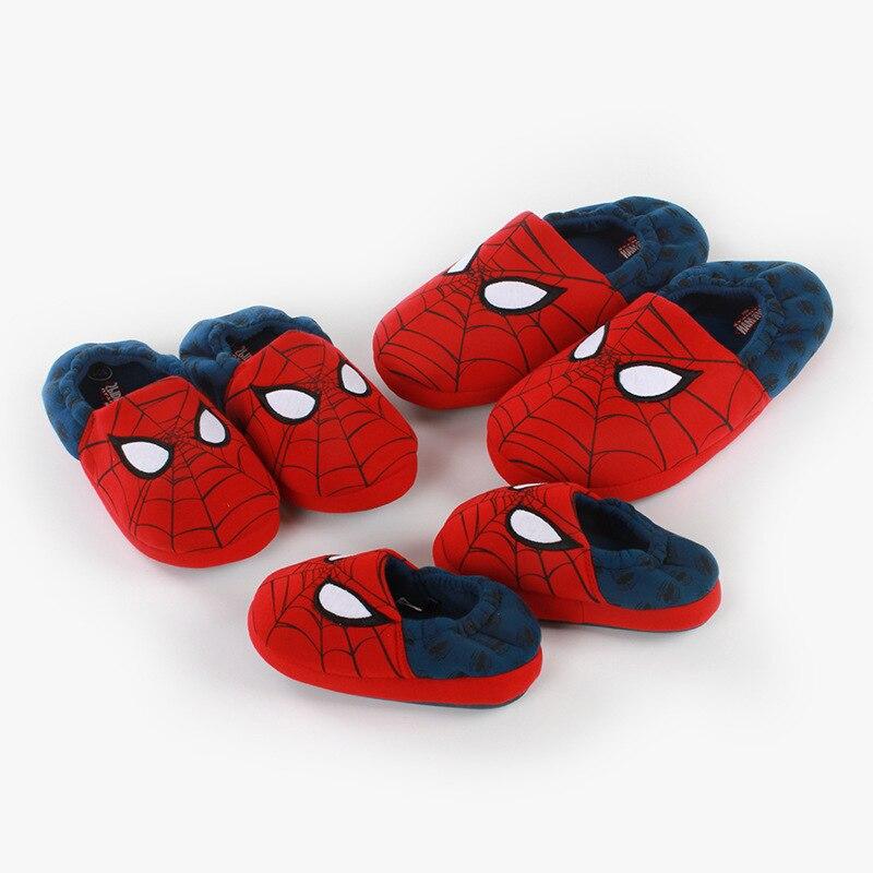 Avenger slipper niños zapatillas para niños dibujos animados zapatos de Spiderman para niños Spider-Man antideslizantes zapatillas de niños casa cálida
