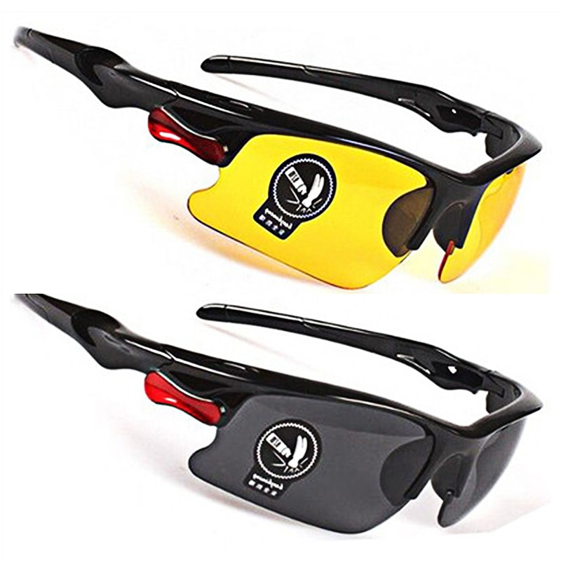 Driving Anti-Glare Polarized Sunglasses Goggles Eyewear Night Vision Drivers Goggles Interior Access