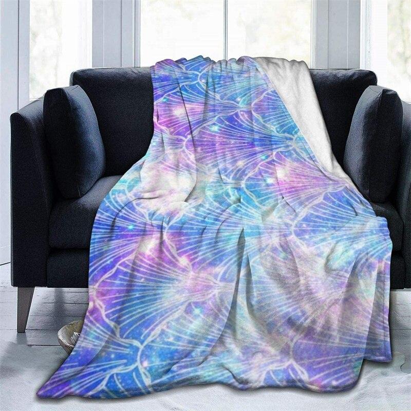 غالاكسي الفضاء نمط مايكرو رمي بطانية ثلاثية الأبعاد طباعة على الطلب Sherpa سوبر مريحة ل أريكة رقيقة لحاف السفر