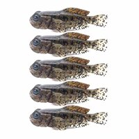 5pcspack artificial goby soft swimbait 75mm 9 3g 0 33oz 3 inch fish baits finest detailed softbait crap fishing lure