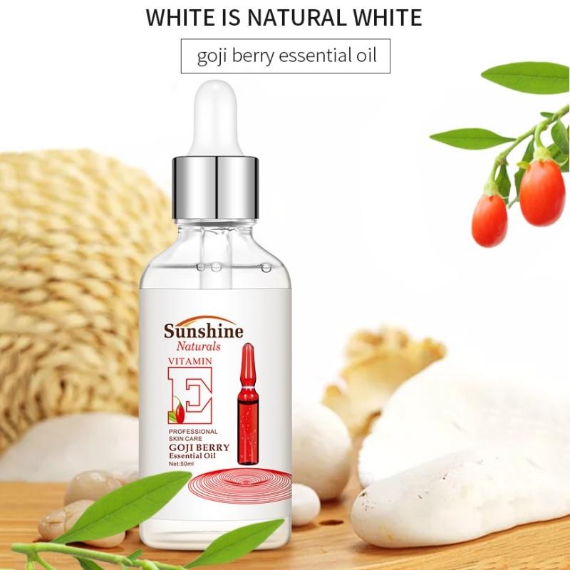 Aceite Esencial de baya de Goji aceite esencial de Lycium Barbarum Aceite hidratante control de aceite reafirmante para el cuidado de la cara de la piel