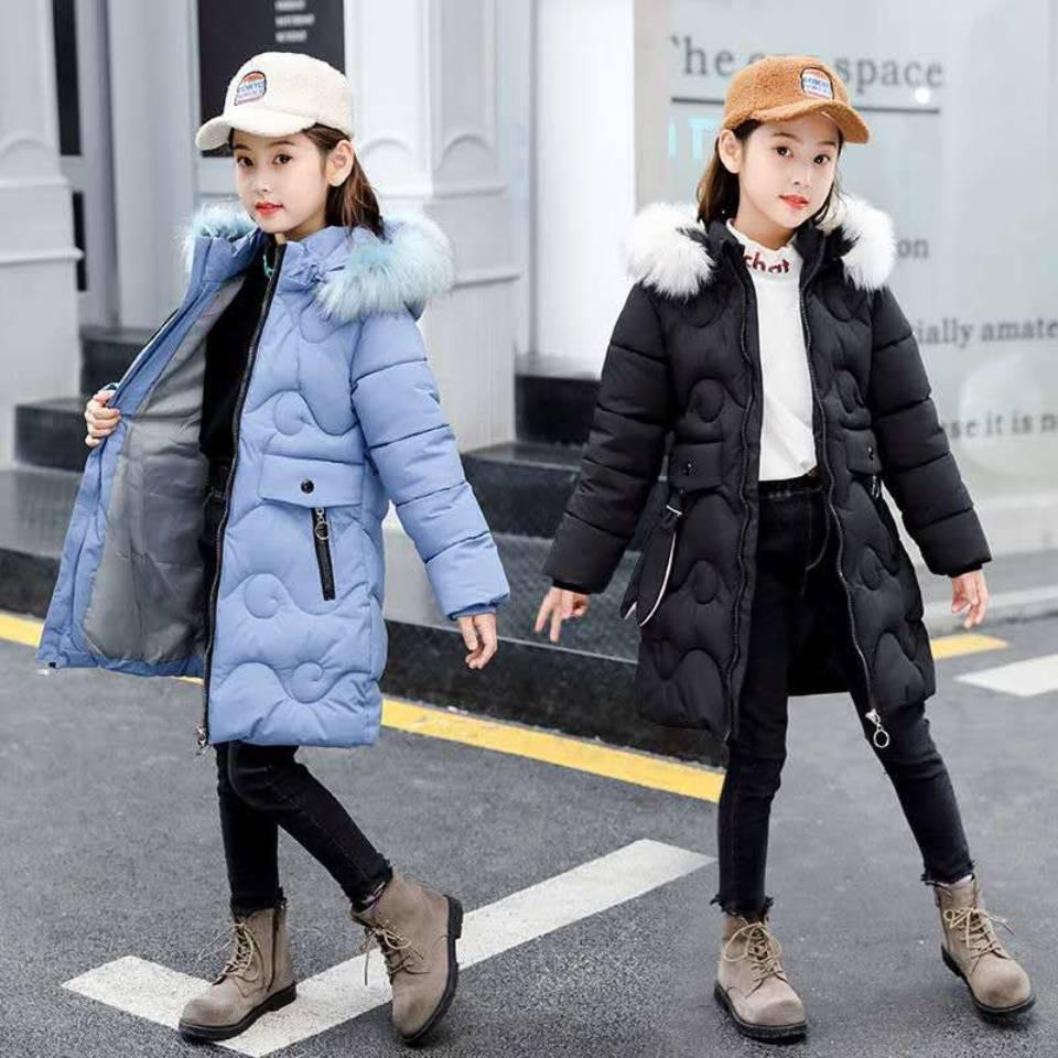 2020 جديد الأطفال سترة شتوية للفتيات معطف يندبروف رشاقته سنوسويت سترة ل 8 10 12 14 16 سنة أزرق/أحمر/أسود اللون