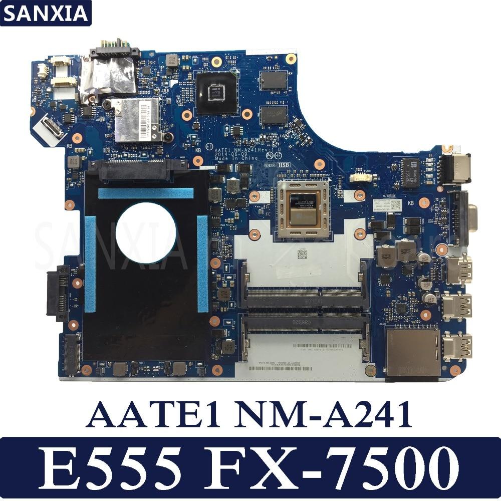 KEFU AATE1 NM-A241 اللوحة الأم لأجهزة الكمبيوتر المحمول لينوفو ثينك باد E555 اللوحة الرئيسية الأصلية FX-7500 R5-M240 2GB