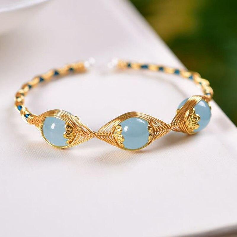 201 оригинальный дизайн, браслет из бисера с аквамарином для женщин, браслеты, браслеты, подвески, элегантные подарки, ювелирные изделия на запястье