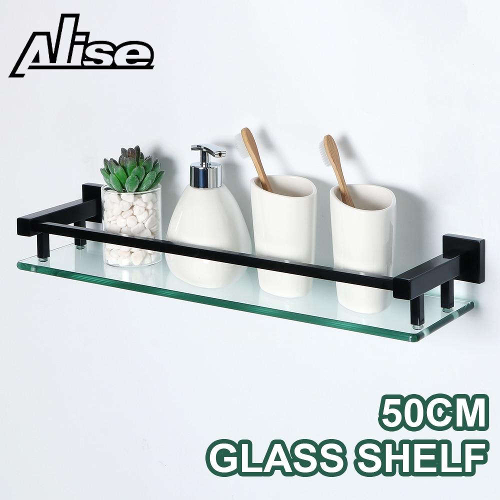 Alise-أرفف حمام من الفولاذ المقاوم للصدأ SUS 304 ، رف زجاجي ، حامل حائط ، علبة دش