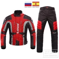 motorcycle jacket suit motocross riding jacket with cotton liner moto jacket off road motorcycle pants with protective gear