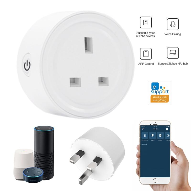 1/4 sztuk eWelink ZigBee inteligentny wtyczka UK gniazdo gateway przełącznika wtykowego dla Alexa Samsung Samsung wsparcie Echo urządzenie kontroler głośności