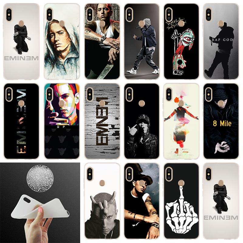 Hip Hop rapero Eminem suave cubierta de la caja para Xiaomi Redmi Note 8 7 6 5 Pro 8a 7 6pro 6a s2 5a 4a 5plus y3 Coque estuche de teléfono